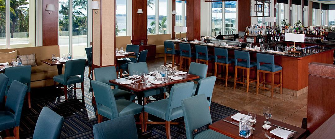 The interior of Blu Restaurant