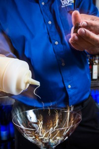 Decorating a Dessert Martini